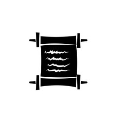 scroll icon black on white background vector image
