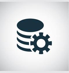 server settings icon trendy symbol concept vector image