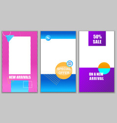Set new arrivals special offer on new arrival vector