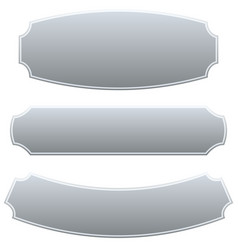 Set of 3 rectangular plaque banner backgrounds vector