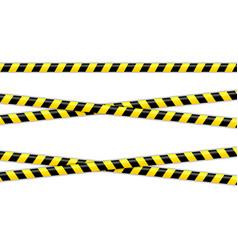 set restriction tapes police line crime scene vector image