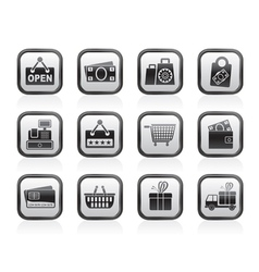 shopping and retail icons vector image