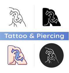 Shoulder tattoo icon vector