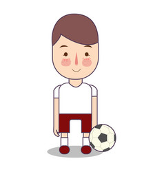 soccer football athlete with ball sport man vector image