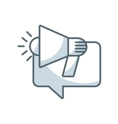 Speech bubble with megaphone icon vector
