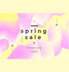 spring sale banner pastel color template design vector image