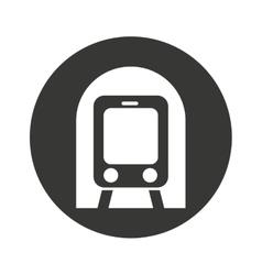 subway transport public icon vector image