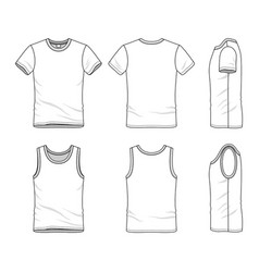 Templates t-shirt and vest vector