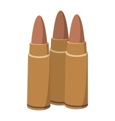 Three bullets cartoon icon vector image