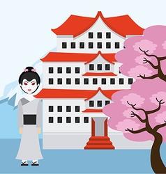 Travel japan vector