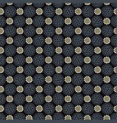 Trendy boho floral polkadot seamless vector