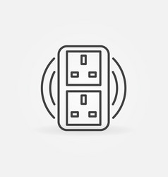 uk double smart socket concept icon in vector image