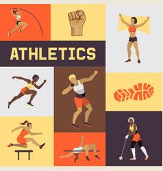 women athletics banner poster brochure vector image