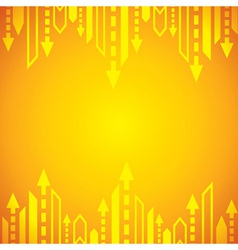 Yellow arrow background vector image