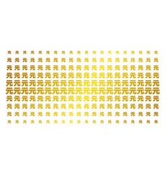 yuan renminbi golden halftone matrix vector image
