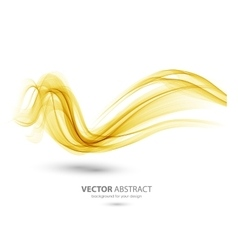 Abstract template background with wave vector image vector image