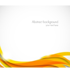 Abstract wavy background in orange color vector image vector image