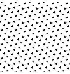 Black doodle hearts seamless pattern backgroun vector image vector image