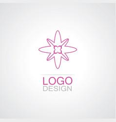 line flower beauty logo vector image
