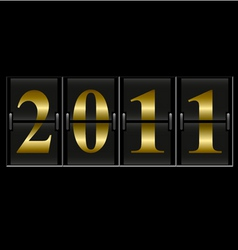 2011 new year counter vector image vector image