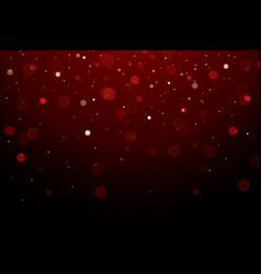 abstract bokeh light on dark background vector image