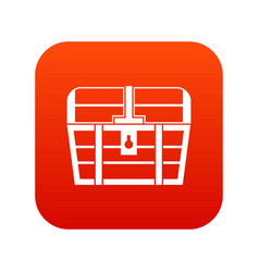chest icon digital red vector image vector image