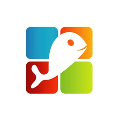 Logo for fisheries business vector