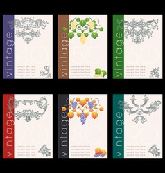 wine labels22 vector image vector image