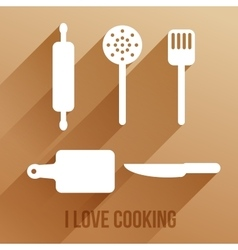with cooking items vector image
