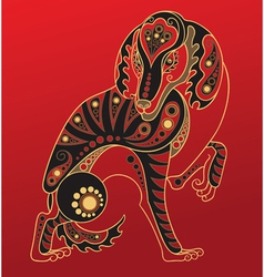 Chinese horoscope Year of the dog vector image vector image
