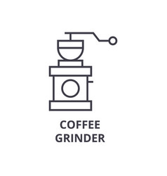 coffee grinder line icon outline sign linear vector image