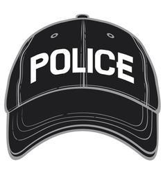 police baseball cap-police hat vector image vector image