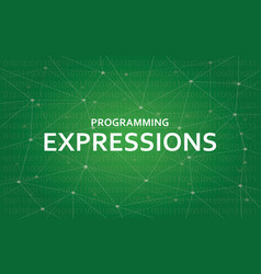 programming expressions concept white vector image vector image