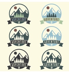 set of adventure vintage labels vector image vector image