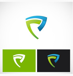 shape shield abstract logo vector image