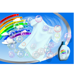 clothes and washing product vector image vector image