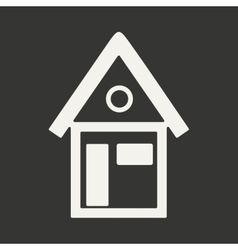 Flat in black and white mobile application house vector image vector image