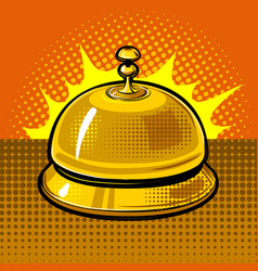 hotel bell vector image vector image