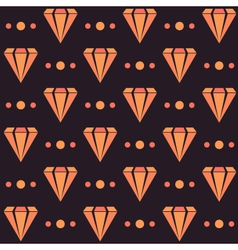 Retro seamless pattern with diamonds and dots vector image vector image