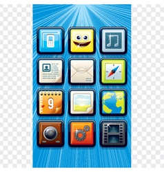 Smart Phone apps icons vector image vector image