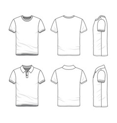 templates of t-shirt and polo shirt vector image vector image