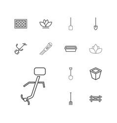 13 gardening icons vector
