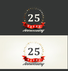 25 years happy anniversary banners vector