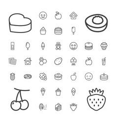 37 sweet icons vector