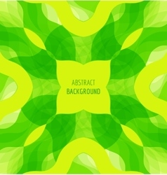 Abstract green waves background with banner vector