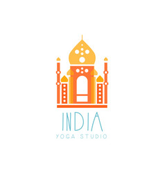 Abstract india taj mahal creative yoga logo vector