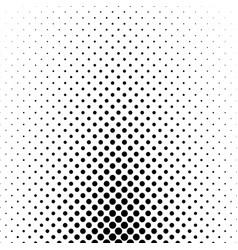 Abstract monochrome polka dot pattern - geometric vector