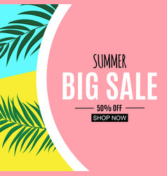 abstract summer sale background vector image