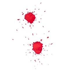 Abstract watercolor aquarelle hand drawn red drop vector image