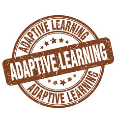 adaptive learning brown grunge stamp vector image